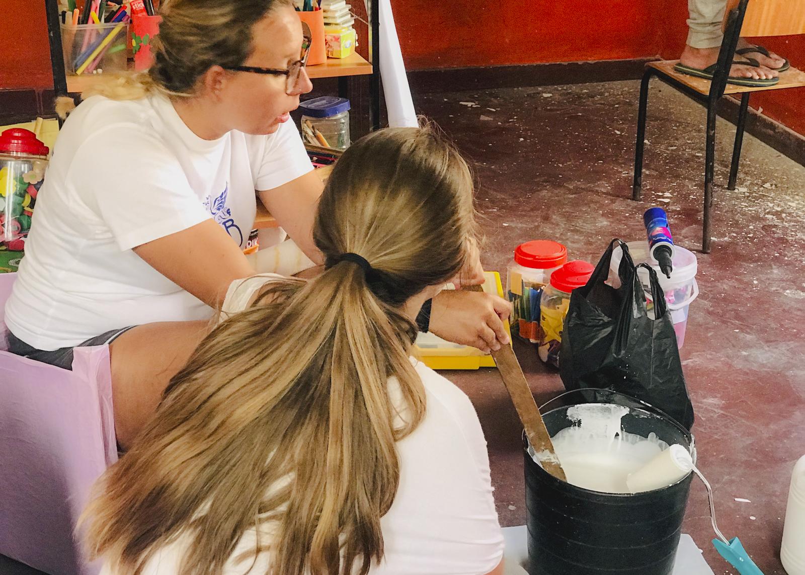 Pintura voluntariado Sudáfrica