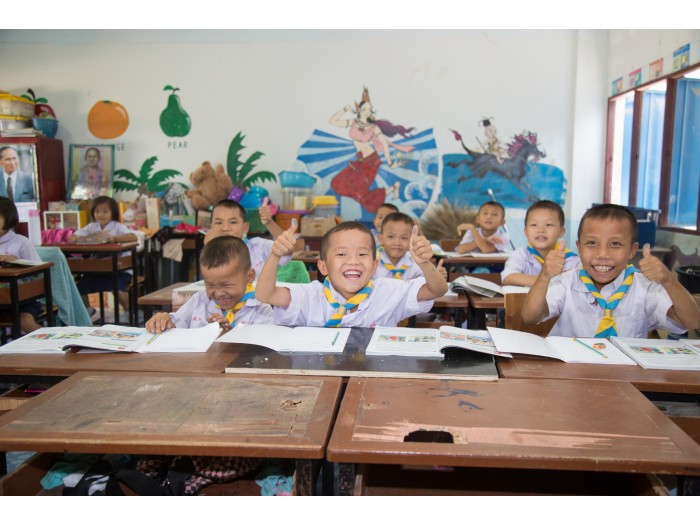 niños colegio Tailandia