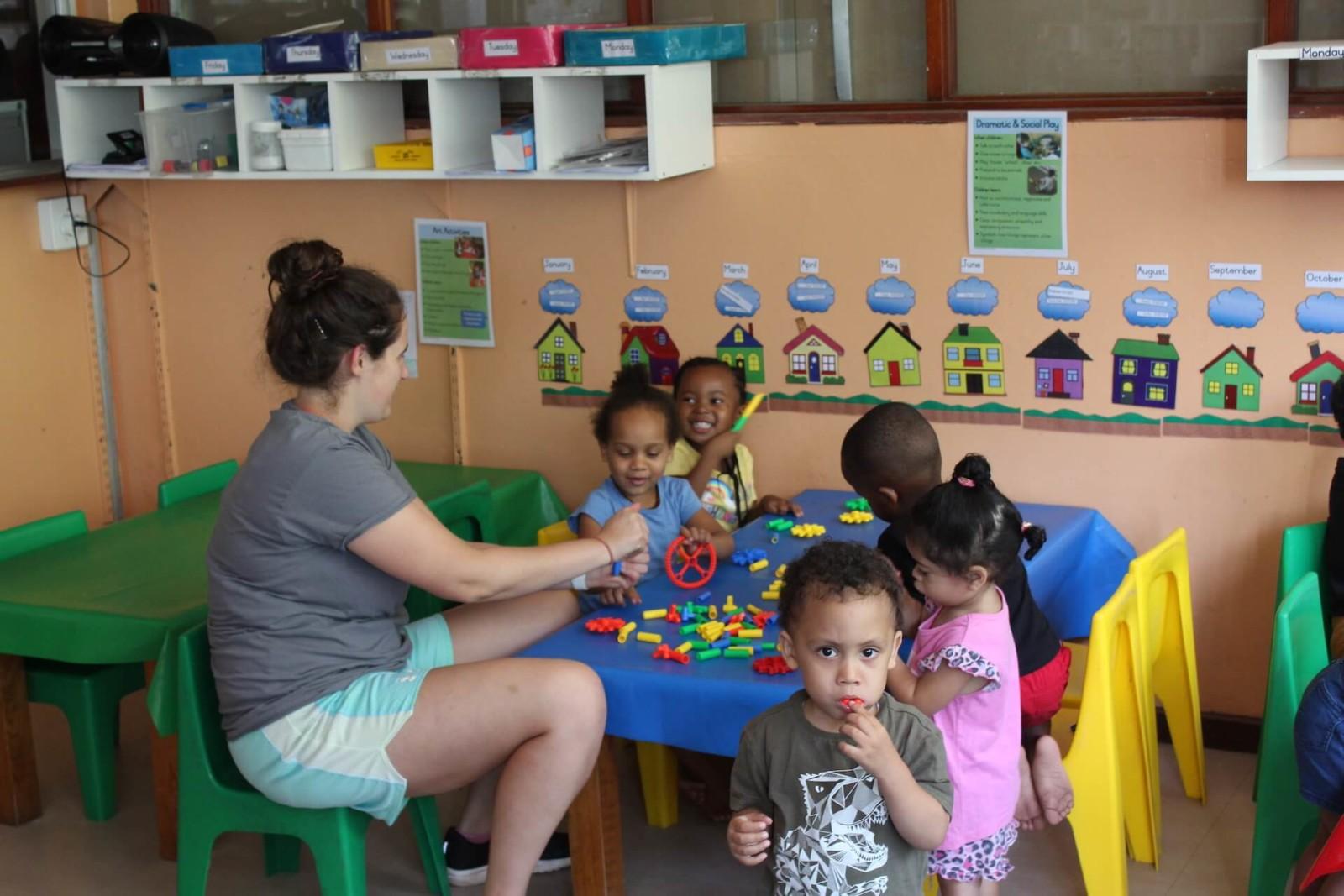 Programa de cuidado de niños en Sudáfrica