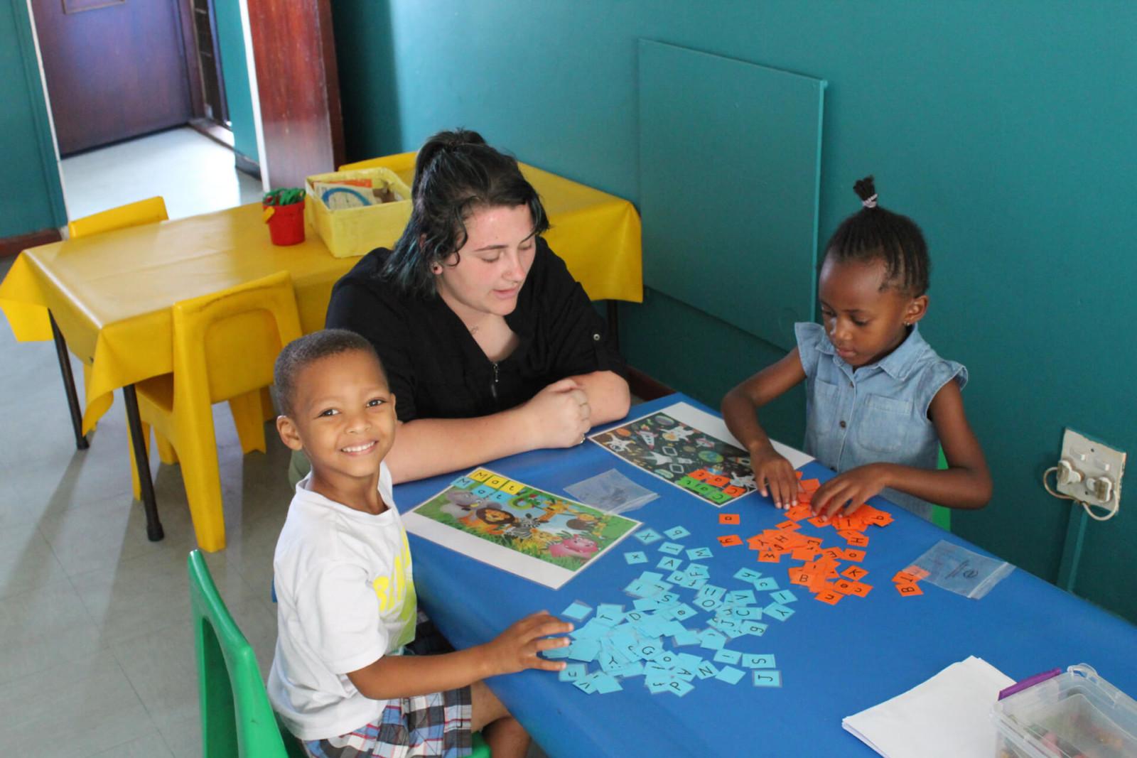 Programa de enseñanza en guardería en Sudáfrica